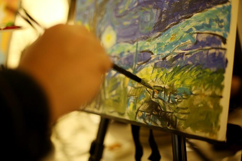 油画、团建