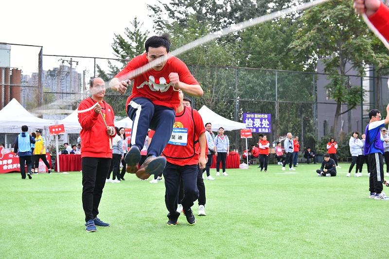 中国工艺集团趣味运动会 集体跳绳